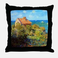 Claude Monet Fisherman Cottage Throw Pillow