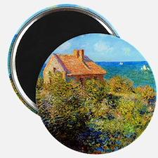 Claude Monet Fisherman Cottage Magnet