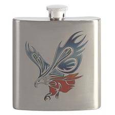 Metallic Grunge Eagle Tattoo Flask