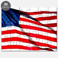 US Flag waving in the wind Puzzle