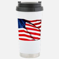 US Flag waving in the wind Travel Mug