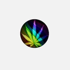 Rainbow Weed Mini Button