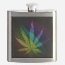 Rainbow Weed Flask