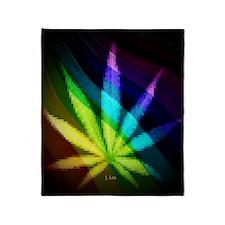 Rainbow Weed Throw Blanket