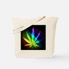 Rainbow Weed Tote Bag
