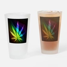 Rainbow Weed Drinking Glass