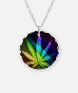 Rainbow Weed Necklace