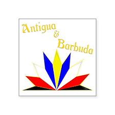 """Antigua and Barbuda Square Sticker 3"""" x 3"""""""