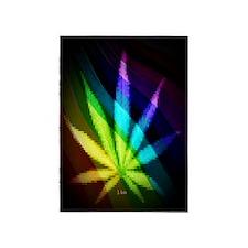 Rainbow Weed 5'x7'Area Rug