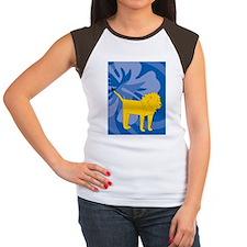 Lion Twin Duvet Women's Cap Sleeve T-Shirt