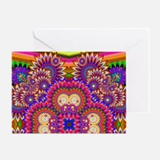 Psychedelic Hippy Art Explosion Greeting Card