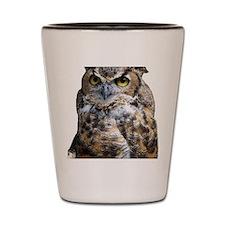 Great Horned Owl Shot Glass