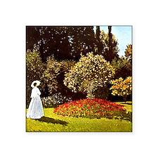 """Monet Women In The Garden Square Sticker 3"""" x 3"""""""