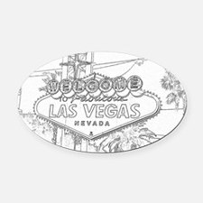 The Sign Oval Car Magnet