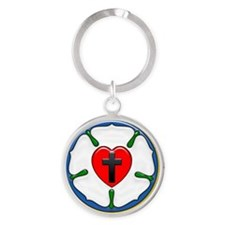 Luther Rose Motif Light Round Keychain