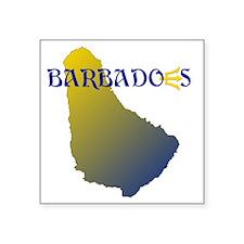 "Barbados Square Sticker 3"" x 3"""