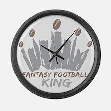 Fantasy Football King Large Wall Clock