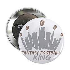 """Fantasy Football King 2.25"""" Button"""