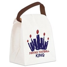 Fantasy Football King Canvas Lunch Bag