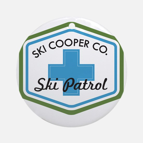 Ski Cooper Ski Patrol Badge Round Ornament