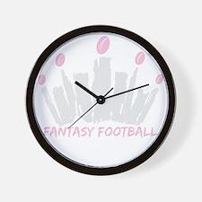 Fantasy Football Queen Wall Clock