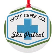 Wolf Creek Ski Patrol Patch Ornament