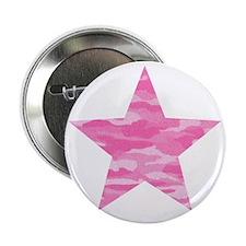 "Pink Camo Star 2.25"" Button"