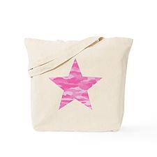 Pink Camo Star Tote Bag