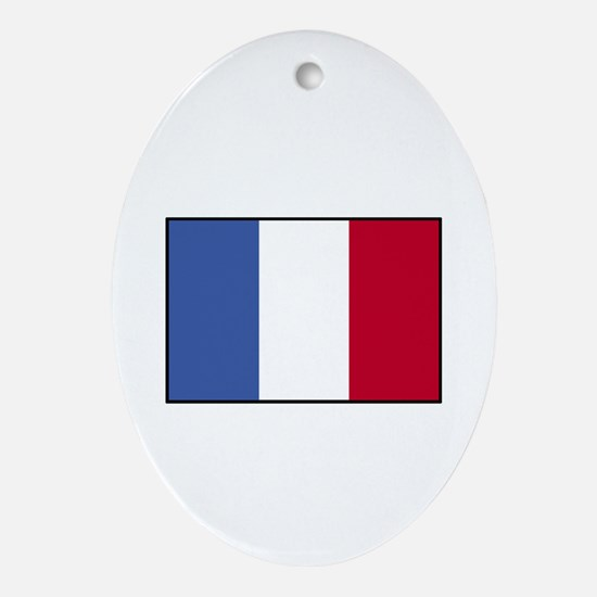 France - French Flag Oval Ornament