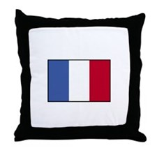 France - French Flag Throw Pillow