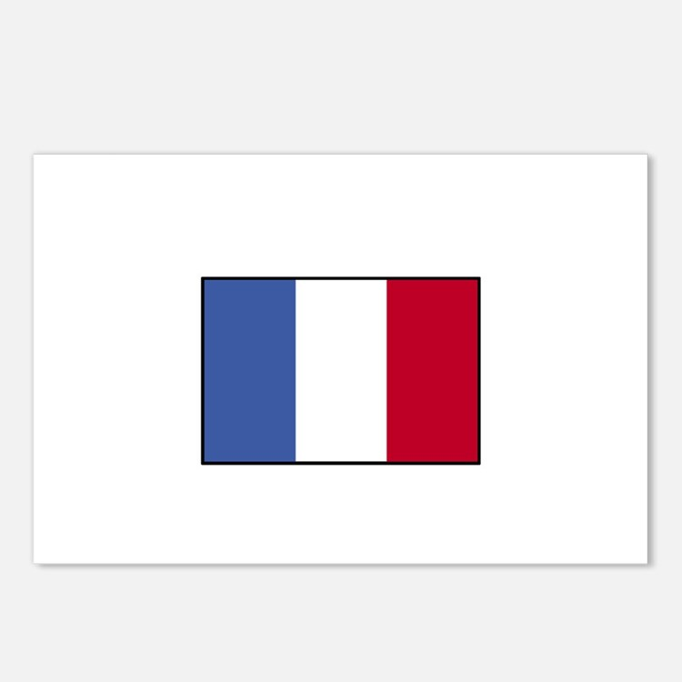 France - French Flag Postcards (Package of 8)
