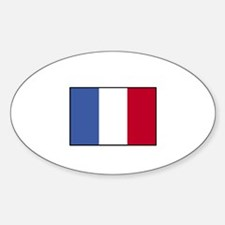 France - French Flag Oval Decal