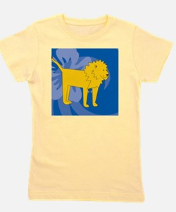Lion Square Coaster Girl's Tee