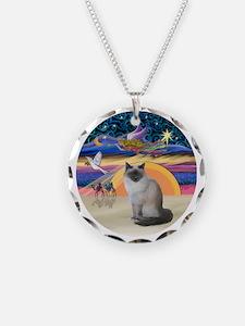 C-Angel-Birman cat Necklace