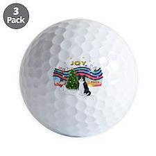XMusic1 - Black-White Cat Golf Ball