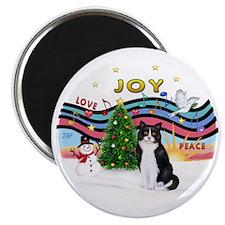 XMusic1 - Black-White Cat Magnet