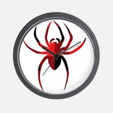Red Plain Spider Wall Clock