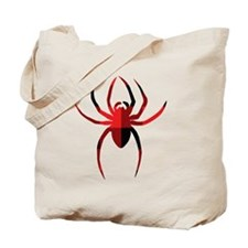 Red Plain Spider Tote Bag