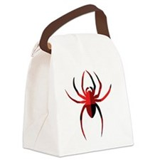 Red Plain Spider Canvas Lunch Bag