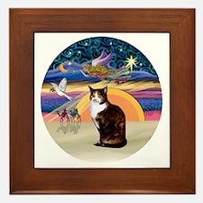 C-Angel-Calico Cat Framed Tile