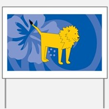 Lion Toiletry Bag Yard Sign