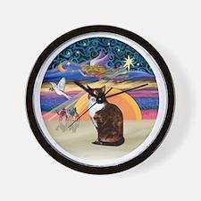 C-Angel-Calico Cat Wall Clock