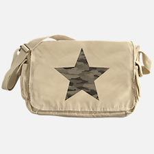 Grey Camo Star Messenger Bag