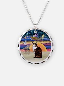 C-Angel-Calico Cat Necklace