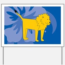 Lion Banner Yard Sign