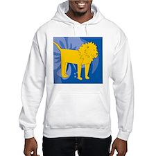 Lion Mens Wallet Hoodie