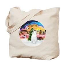 XMusic2 - White Cat (Amer.SH) Tote Bag