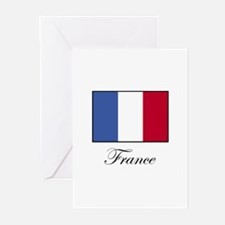 France - Flag of France Greeting Cards (Package of