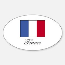 France - Flag of France Oval Decal