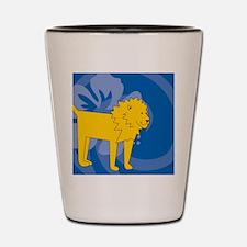 Lion Round Pet Tag Shot Glass